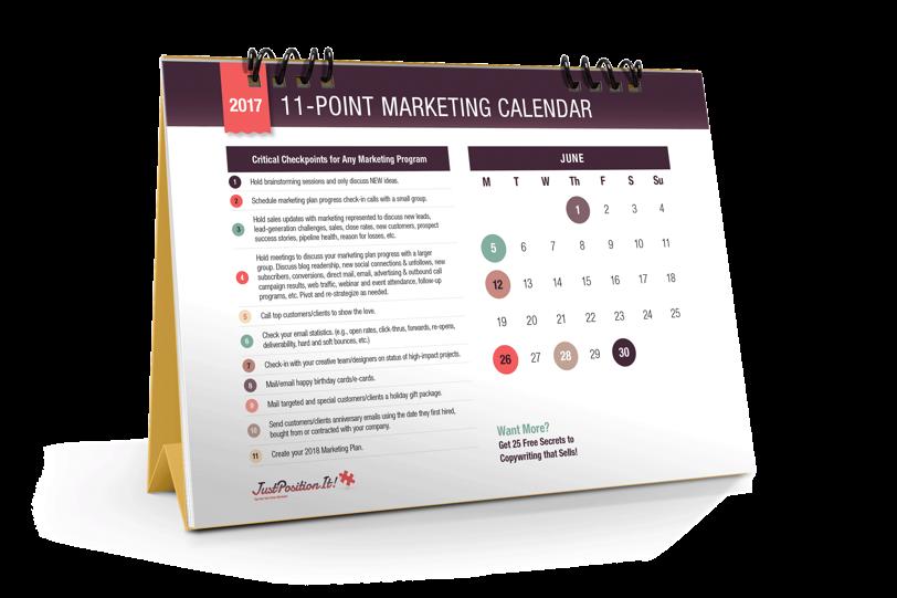 2017 Marketing Calendar Justpositionit