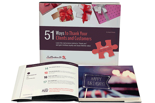 51 Ways to Thank your Clients and Customers Justpositionit